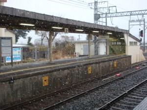 雪の近鉄名古屋線